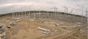 View of Vassell Station 765-kV construction site from solar web camera.