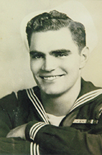 Sam Belfiore, a Silver Star Navy coxswain, piloted the low-draft 36-foot craft during the war. Photo courtesy of Mott's Military Museum.
