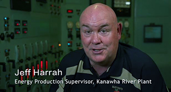 Jeff Harrah, an energy production supervisor at Kanawha River Plant, discusses the upcoming plant closure.